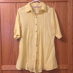 Yellow button down tunic